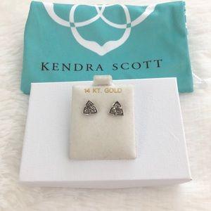 Kendra Scott Gray Druzy Stud Earrings
